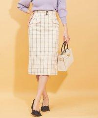 ウィンドウペンチェックタイトスカート