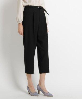【ママスーツ/入学式 スーツ/卒業式 スーツ】【Lサイズあり】ベルト付きワイドタックパンツ