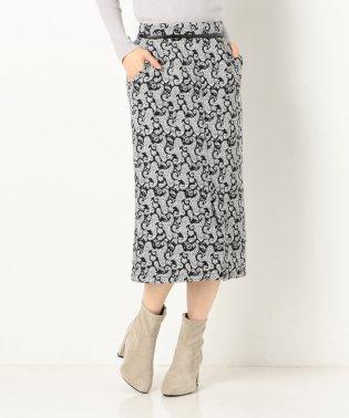 ジャガードミモレタイトスカート