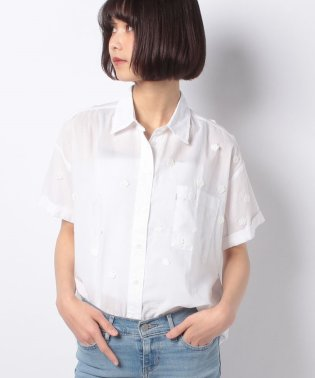MAXINE SHIRT MCCOLL BRIGHT WHITE EMBROID