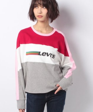COLOR BLOCK PIECED TOP PINK/ RED / GREY