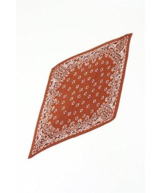 バンダナ柄プリーツスカーフ