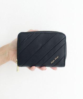 Legato Largo ストライプの切り替えが華やかな二つ折財布