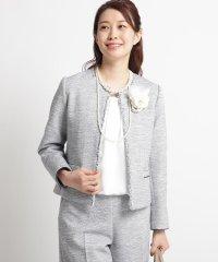 【ママスーツ/入学式 スーツ/卒業式 スーツ S~Lサイズあり】ツイードノーカラージャケット