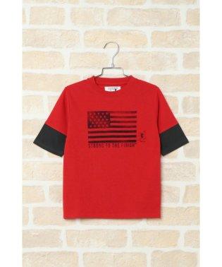 【キッズ】ポパイコラボ5分袖レイヤーTシャツ(120~160cm)