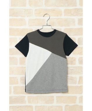 【キッズ】ジオメ切り替えTシャツ(120~160cm)