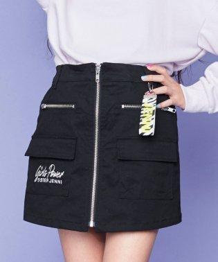 フロントジップスカート風ショーパン