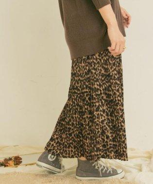 ヒョウガラプリーツスカート