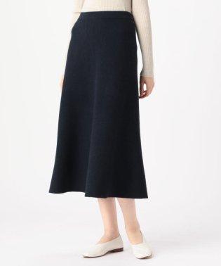 ウールミラノリブ フレアロングスカート