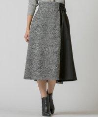 ヘリンボーンリングツィードスカート