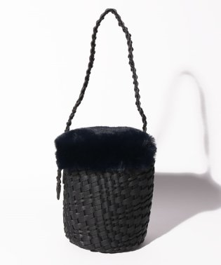 カカトゥ kakatoo / エコファーフラップ付きメッシュバケツトートバッグ
