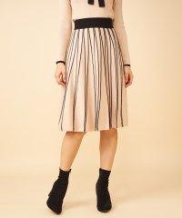 【セットアップ対応商品】配色プリーツニットスカート