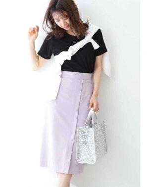 ◆ベルト付きフロントタックタイトスカート