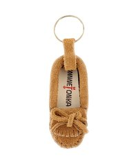 MINIATURE SUEDE MOC KEY RINGS Taupe