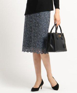 [S]【ママスーツ/入学式 スーツ/卒業式 スーツ】ジャカードレースタイトスカート