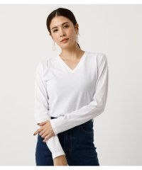 BASIC LONG SLEEVE V NECK TEE