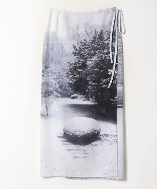 NR46 JUPE フォトプリントラップスカート