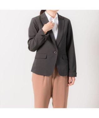 ウィメンズシャツ テーラードジャケット(ダブルクロス) チャコールグレー系