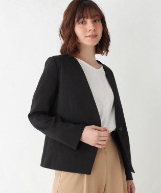 【M-LL/洗える/セレモニー】Wクロス通勤Vネックジャケット