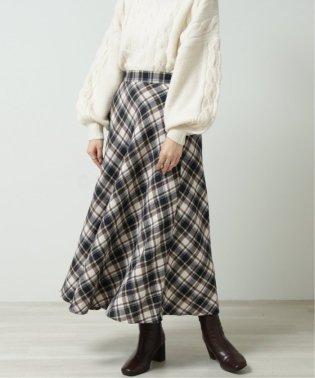 バイアスチェックマキシスカート