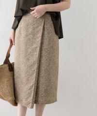 ジャガードラップ風スカート