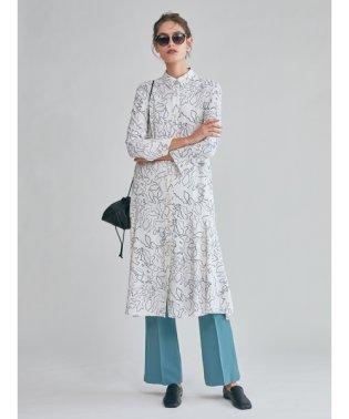 マーメイドラインジャージシャツドレス