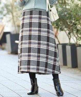 ヴィンテージツイードセミフレアスカート