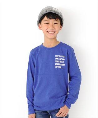 天竺・ロゴプリント長袖Tシャツ