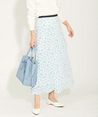 花柄ナロースカート