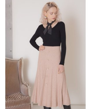 Button Knit Skirt
