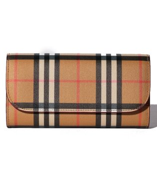 【BURBERRY】Vintage Check&Leather Continental Wallet