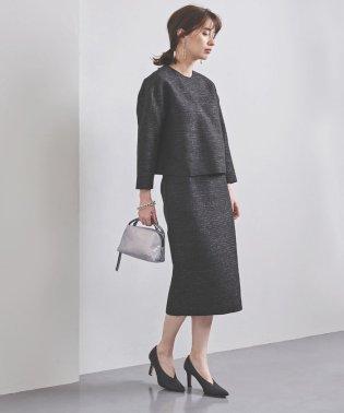 UBCS ブライトツイード タイトスカート BLACK