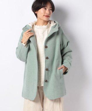 【SM2】中空糸ウールフードミドル丈コート
