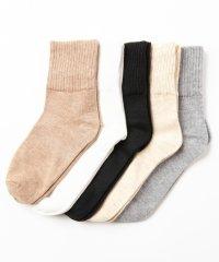 レディース靴下 ロークルーソックス(5足セット)