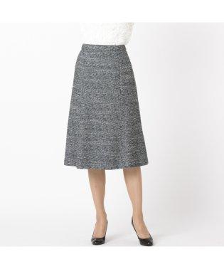ラメ入りストレッチツイード フレアスカート【セットアップ可】