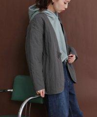 【KBF】サイドベルトキルティングジャケット