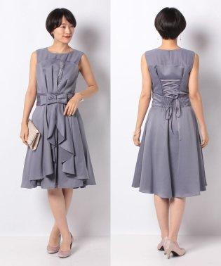 【ドレスライン】オーバースカート付きフレアドレス