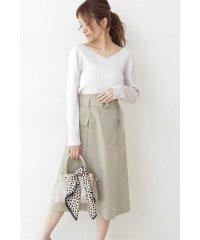 ◆ベルト付きロングスカート
