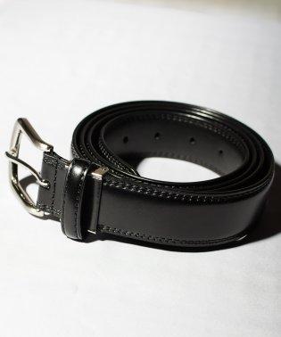 【77】【ロングサイズ】ブラックフォーマルレザーベルト