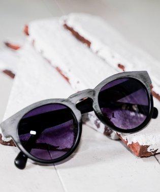 【Sp】ウッド調フレームボストンファッショングラス