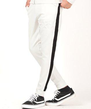ネオプレーンエンボスジョガーパンツ/ジョガーパンツ メンズ スリム イージーパンツ サイドライン