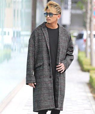 シャギーオーバーサイズチェスターコート/チェスターコート メンズ ウール コート