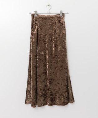 ベロアマーメイドラインスカート