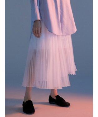 オーガンザ プリーツスカート