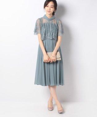 【ドレスライン】ロールネックレース切り替えドレス
