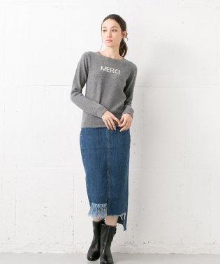 【YANUK】アシンメトリーデニムスカート