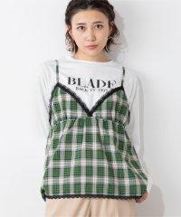 【2点セット】WEGO/チェックキャミソールセットロゴTシャツ