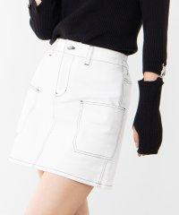 WEGO/ステッチサイドポケットミニスカート
