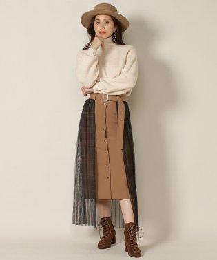オリジナルチェックチュールドットスカート