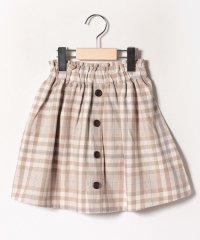 【lagom】フロントボタンチェック柄スカート
